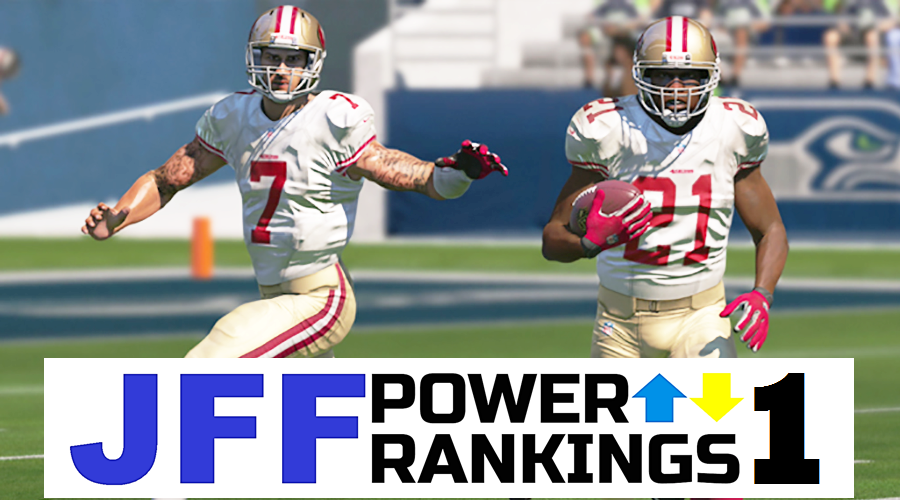 JFF Power Rankings - Installment #1